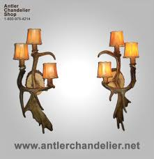 Antler Sconces Sconces To Go With Bonfire Chandelier Decor Kitchens And Interiors