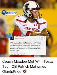 Texas Tech Memes - ny giants pride texas te mike garafolo garafolo nyg coach ben
