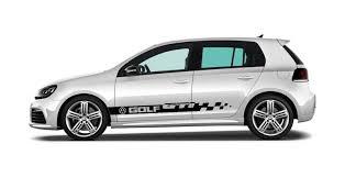 vw logos product 2x volkswagen golf gti side skirt vinyl body decal