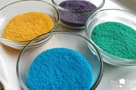 how to make your own colorful sand