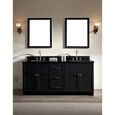 ace 73 inch transitional double sink bathroom vanity set black