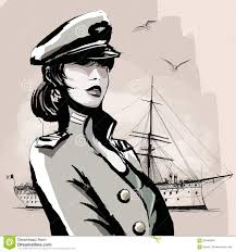 pretty woman in marine officer uniform stock vector image 68046846