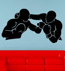 popular fight decal buy cheap lots from china wall decal boxing sport athlete sparring fight beat ring vinyl china mainland