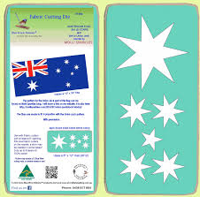 Blue Flag With Stars Australian Flag Stars X 6 Stars On Die 6146b Mat Included A1
