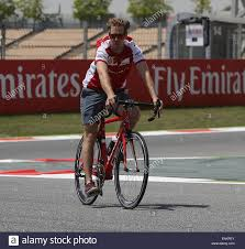 ferrari bicycle may 7 2015 barcelona spain sebastian vettel of germany and