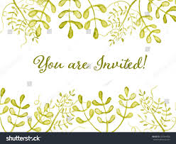 you invited card floral wreath watercolor stock vector 257544556