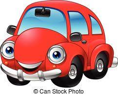 cartoon convertible car red convertible car funny cartoon style isolated vector clip art