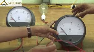 understanding the connection of a voltmeter and ammeter on a