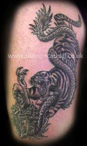 43 best tiger fighting tattoos images on pinterest tigers