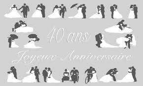anniversaire mariage 10 ans cadeau femme 40 ans de mariage votre heureux photo de mariage