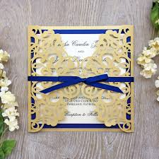 gold lace ribbon wedding invitations awesome lace ribbon for wedding invitations