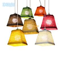 white woven pendant light 11 color white black green pink purple home decoration lighting