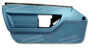 1987 corvette door panels 1986 1989 c4 corvette interior standard door panels blue
