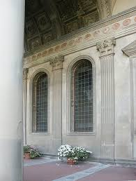 Exterior Door Pediment And Pilasters by Images Of The Pazzi Chapel Santa Croce Florence By Brunelleschi