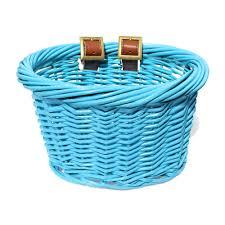 baskets for kids ev01501 kids front handlebar wicker bike basket blue wicker baskets