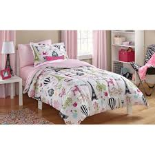 Home Decor Paris Theme Mainstays Kids Paris Bed In A Bag Bedding Set Walmart Com
