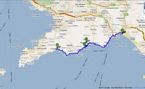 Map Of Amalfi Coast Italy by Shore Excursions For Cruise Passengers From The Port Of Salerno
