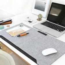Laptop Cushion Desk Office Desk Mat Mouse Pad Pen Holder Wool Felt Laptop Cushion Desk