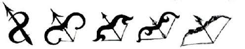 sagittarius zodiac symbol design mesothelioma cancer asbestos