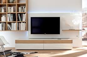 Living Room Tv Table White And Wood Modern Media Wall Unit Wall Units Design Ideas