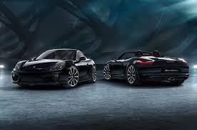 Porsche Boxster Black - 2016 porsche cayman black edition revealed photo u0026 image gallery