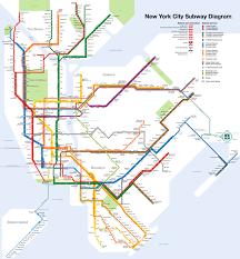 map of ny subway new york city wikitravel