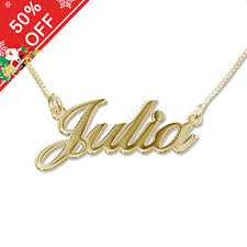 small name necklace classic name necklace