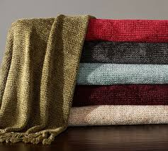 Rayon Chenille Throw Pottery Barn