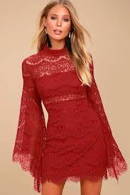 sleeve dress dazzling lace dress bell sleeve dress mock neck dress