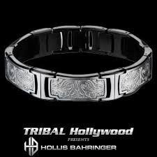mens bracelet steel images Stainless steel jewelry tribal hollywood jpg