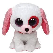 ty beanie boos darlin white dog glitter eyes regular size