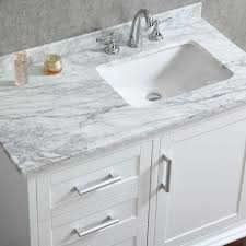 ace 42 inch single sink white bathroom vanity with mirror small