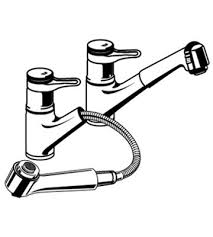 grohe kitchen faucets replacement parts grohe europlus 33 853 pull out spray faucet parts