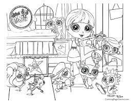 coloring pages littlest pet shop kids print free sheets printable