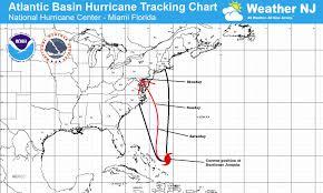 Hurricane Tracking Map Major East Coast Storm Detected
