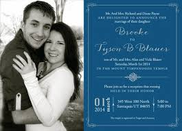 lds wedding invitations lds wedding invitation wording to give inspiration in