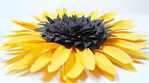 diy paper sunflower flower for wall backdrop decoration arts and