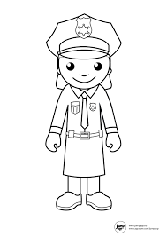 mailman hat coloring page police women for my grace she want to be one police crafts