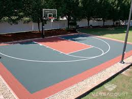 Build A Basketball Court In Backyard Versacourt Indoor Outdoor U0026 Backyard Basketball Courts