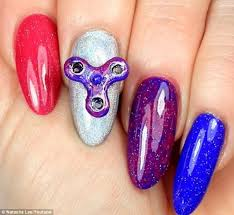fidget spinner nail art how to daily mail online