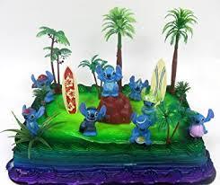 Tropical Theme Birthday Cake - amazon com lilo and stitch 15 piece birthday cake topper set
