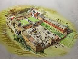an artists impression of how chedworth roman villa looked c ad