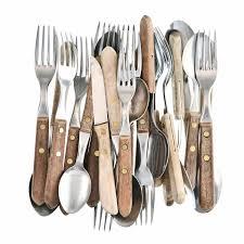 couverts cuisine rétro couteau fourchette et cuillère d ustensiles de cuisine
