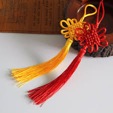 Chinese New Year Home Decor by 21x5 5cm Yellow Chinese Knot Silk Line Hanging Home Decoration