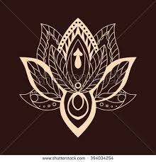 Lotus Flower With Om Symbol - lotus mandala on bright background vector stock vector 412018954
