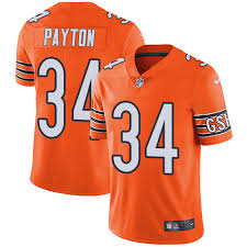 Chicago Bears Walter Payton Mens Jersey Chicago Bears 34 Impact Black Nfl