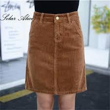 corduroy skirts free shipping new arrival 2017 women summer autumn corduroy skirt
