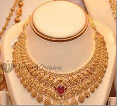 necklace choker design images Gold choker designer gold and diamond jpg