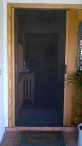 Exterior Design Awesome Retractable Screen Door For Home Design