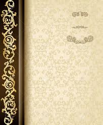 stylish vintage background with golden ornament and damask pattern